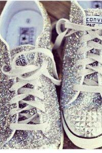 sequin silver converse