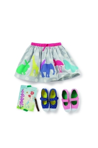Boden girls skirt and shoes
