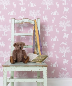 hibou home fairytale wallpaper