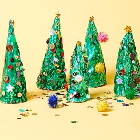 Christmas Crafts For Toddlers: Tin Foil Trees