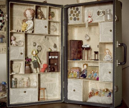 doll's house suitcase