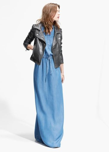 mango denim maxi dress