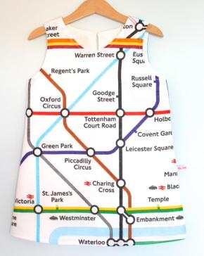 Little Girl's Tube Map Dress
