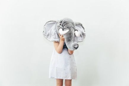 Nubie Kids Boutique Animal Wall Heads - Elephant