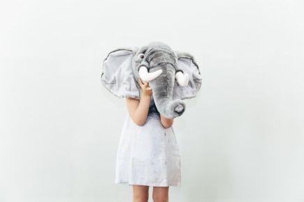 Nubie Kids Boutique Animal Wall Heads - Elephant