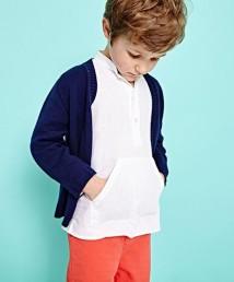 cardigan, £38, shirt, £39, shorts, £36